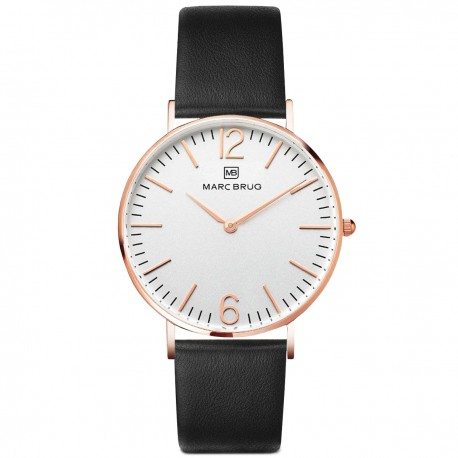 Marc Brüg Men's Chelsea Watch With Rosegold Case And Argent Dial