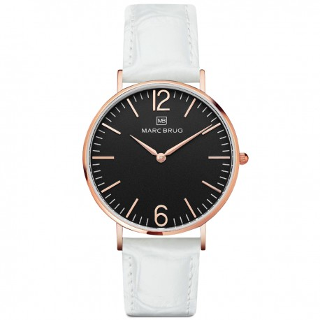 Marc Brüg Men's Lexington Watch With Rosegold Case And Argent Dial