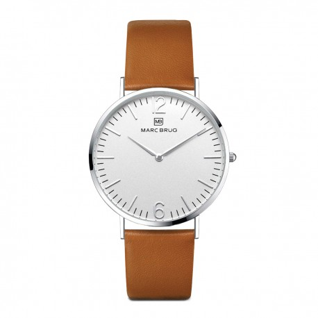 Marc Brüg Ladies' Paddington Watch With Silver Case And Argent Dial
