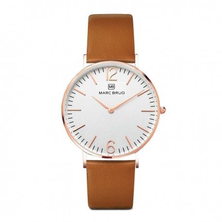 Marc Brüg Ladies' Paddington Watch With Rosegold Case And Black Dial