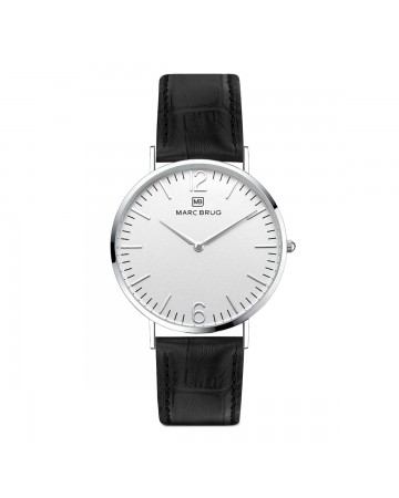 Marc Brüg Ladies' Broadway Watch With Silver Case And Argent Dial