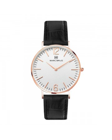 Marc Brüg Ladies' Broadway Watch With Rosegold Case And Argent Dial