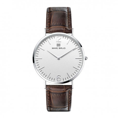 Marc Brüg Ladies' Madison Watch With Silver Case And Argent Dial