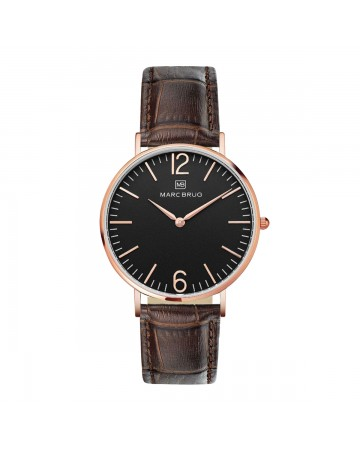 Marc Brüg Ladies' Madison Watch With Rosegold Case and Black Dial