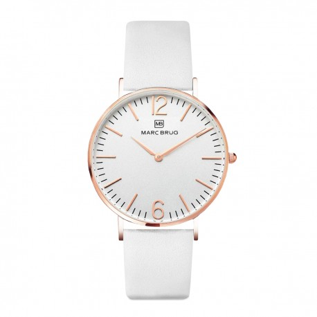 Marc Brüg Ladies' Kensington Watch With Rosegold Case And Black Dial