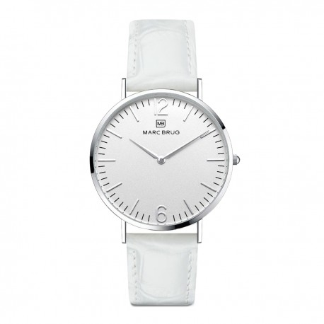 Marc Brüg Ladies' Lexington Watch With Silver Case And Argent Dial