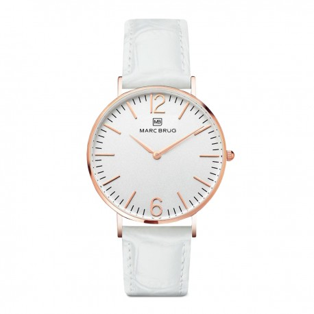 Marc Brüg Ladies' Lexington Watch With Rosegold Case And Black Dial