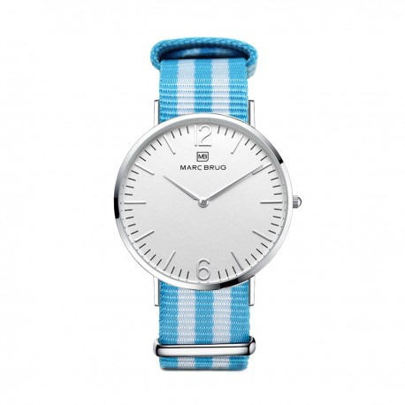 Marc Brüg Ladies' Miami Watch With Silver Case And Argent Dial