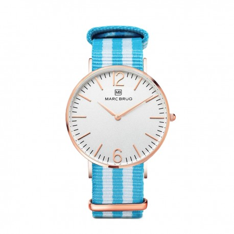 Marc Brüg Ladies' Miami Watch With Rosegold Case And Black Dial