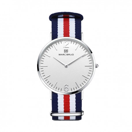 Marc Brüg Ladies' St. Tropez Watch With Silver Case And Argent Dial