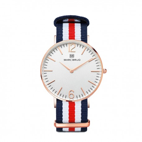 Marc Brüg Ladies' St. Tropez Watch With Rosegold Case And Black Dial