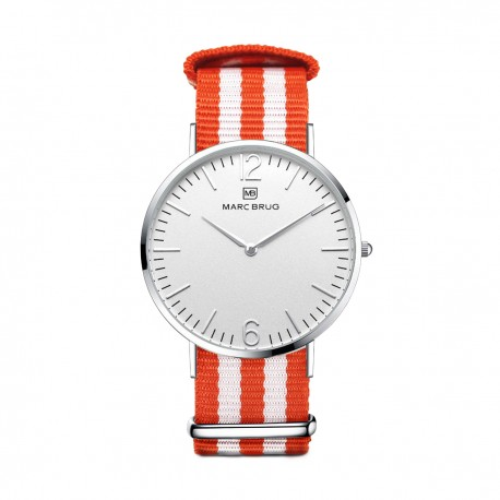 Marc Brüg Ladies' Goa Watch With Silver Case And Black Dial