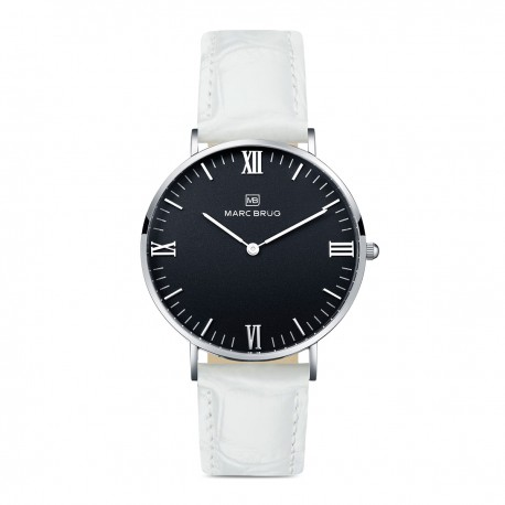 Marc Brüg Ladies' Lexington Watch With Silver Case And White Dial