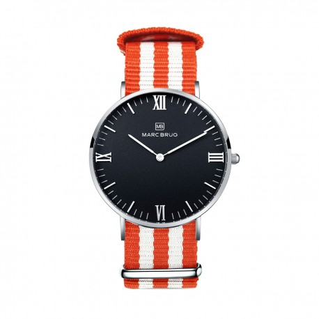 Marc Brüg Ladies' Goa Hygge Watch With Silver Case And Black Dial