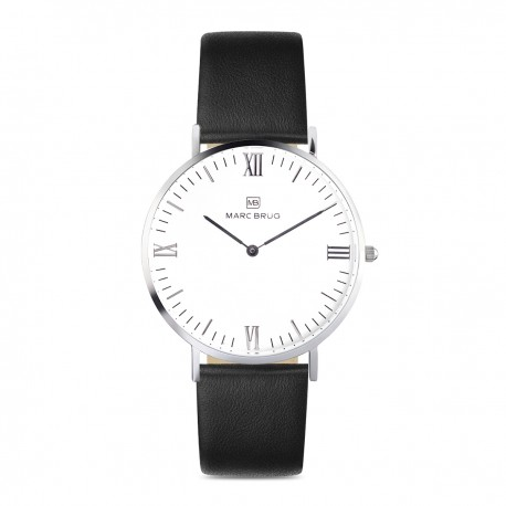 Marc Brüg Ladies' Chelsea Hygge Watch With Silver Case And White Dial