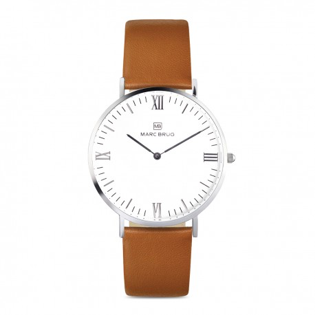 Marc Brüg Ladies' Hygge Paddington Watch With Silver Case And White Dial