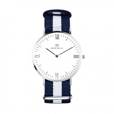 Marc Brüg Ladies' Bali Hygge Watch With Silver Case And Black Dial