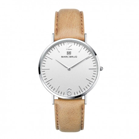 Marc Brüg Ladies' Chamonix Watch With Silver Case And Black Dial