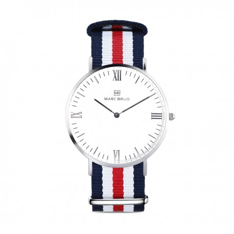 Marc Brüg Ladies' St. Tropez Hygge Watch With Silver Case And Black Dial